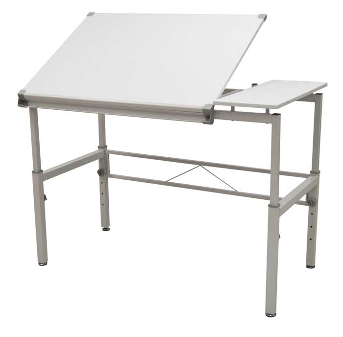 Studio Design Graphix II Workstation – 30  x 42  White Gray