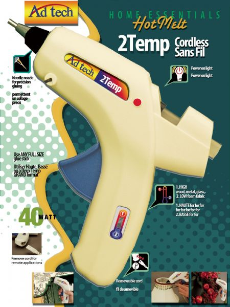 Cordless Two Temp Glue Gun