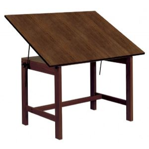 Alvin Drafting Table Titan Table 36X48X30 Walnut Finish No Drawer