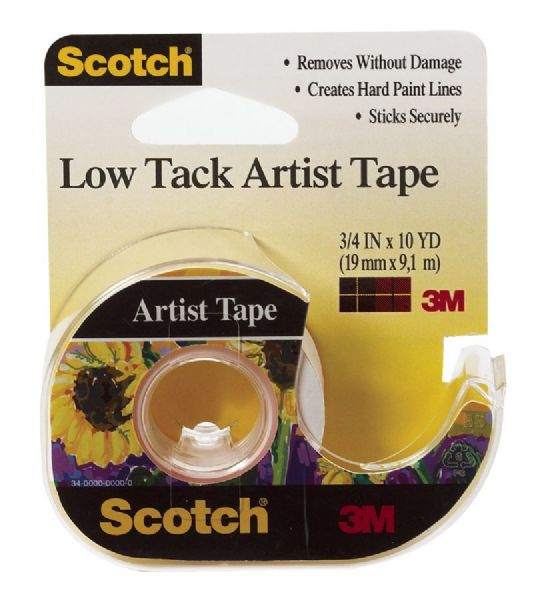 "Artist Tape Low Tack 3 4"" X 10 Yds"
