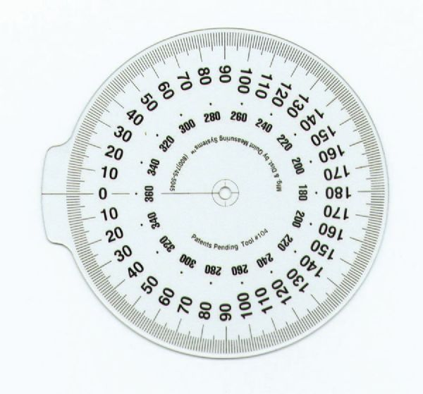 True Angle Attachable Dial 4 Inch