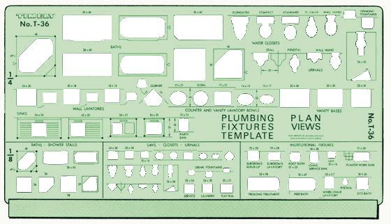 Template Plumbing Plan View