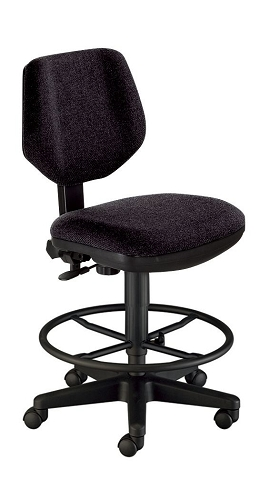 Comfort Black Drafting Chair