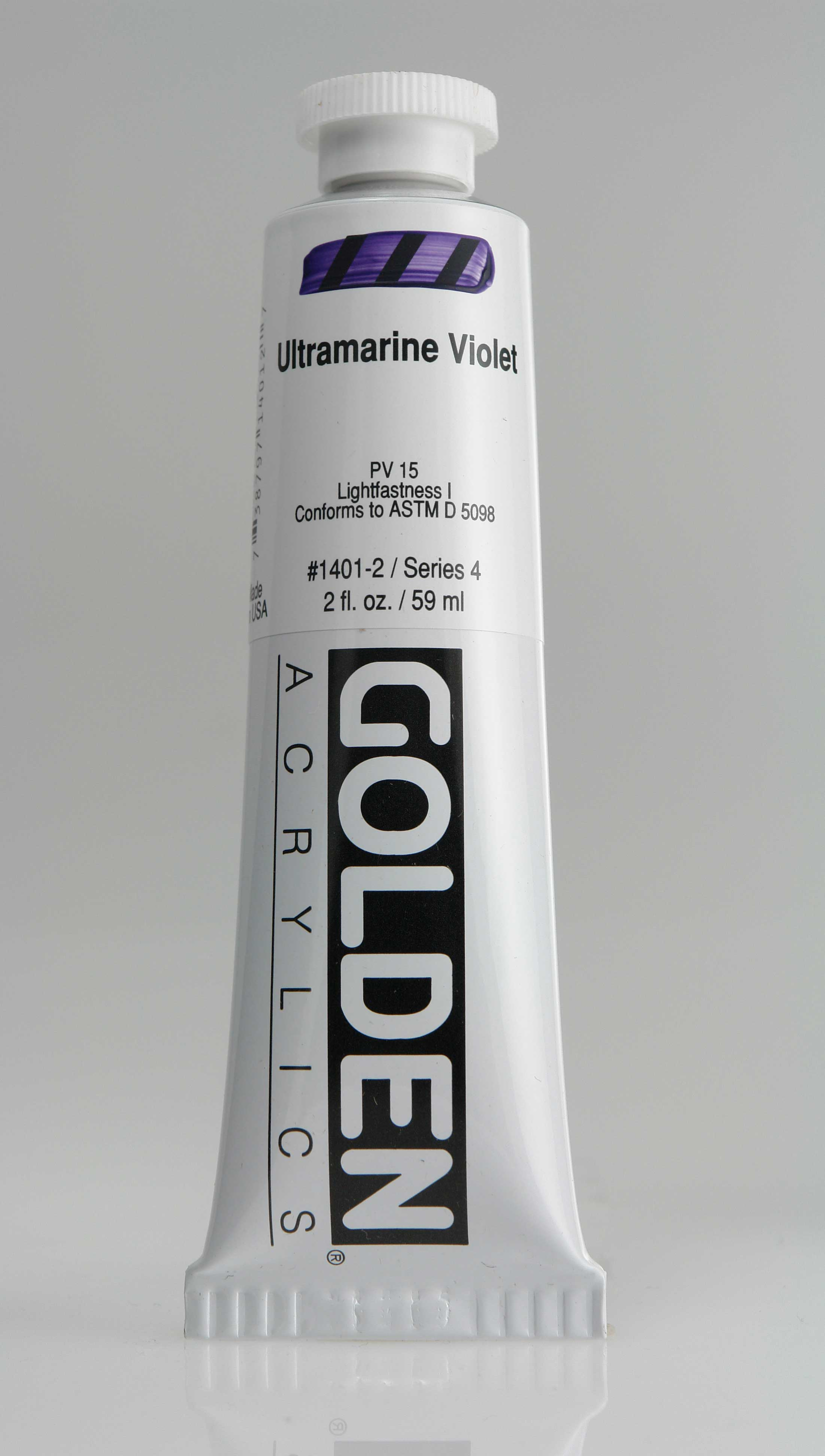 Ultramarine Violet 2 oz Golden Acrylic