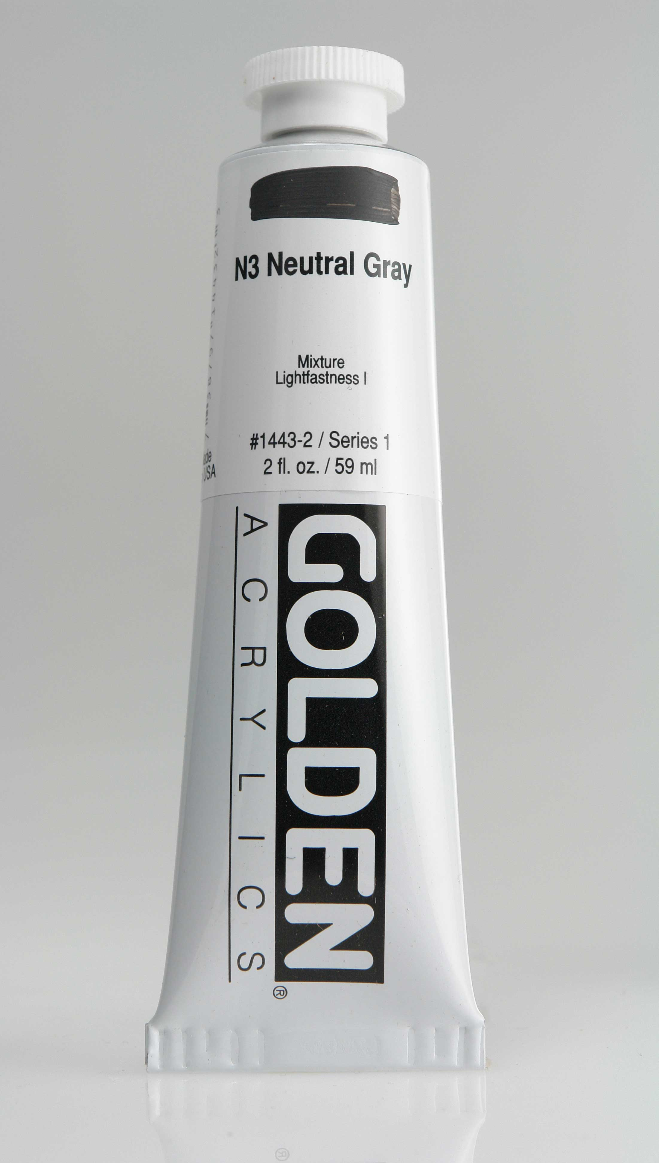 Neutral Gray N3 2 oz Golden Acrylic