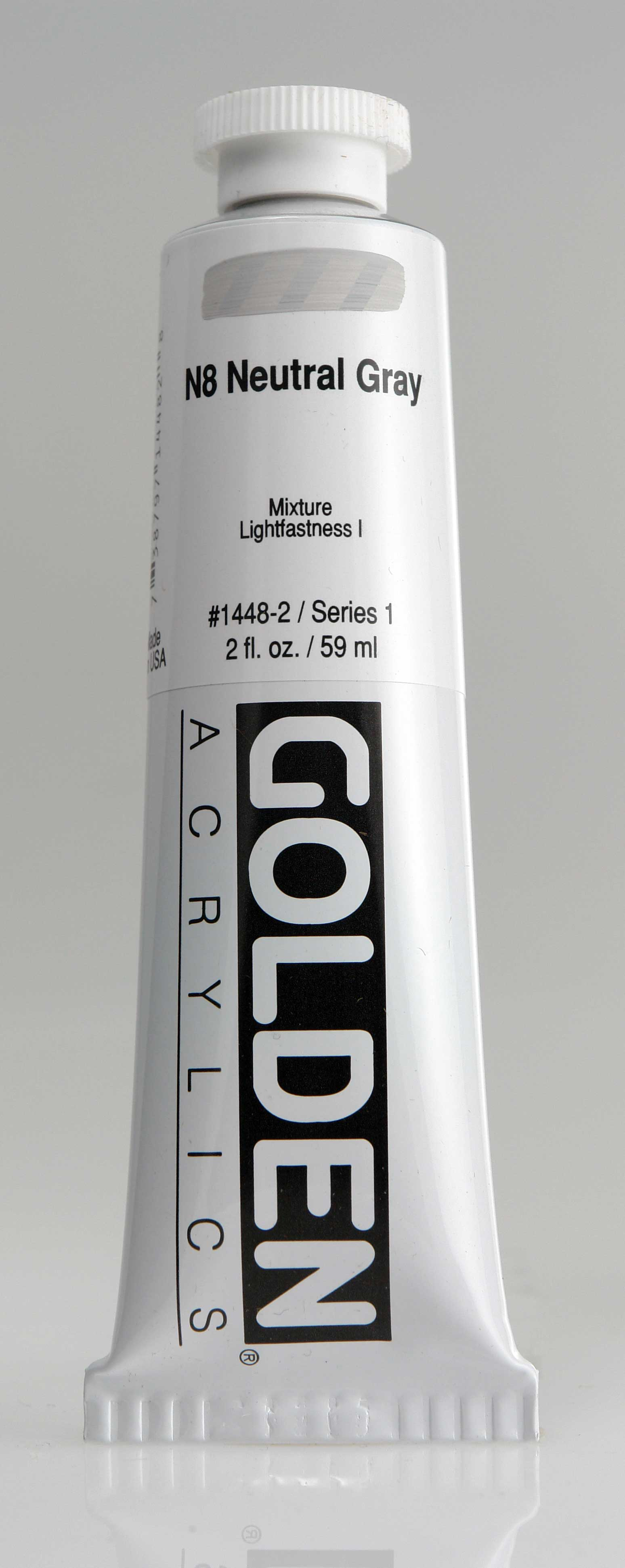 Neutral Gray N8 2 oz Golden Acrylic