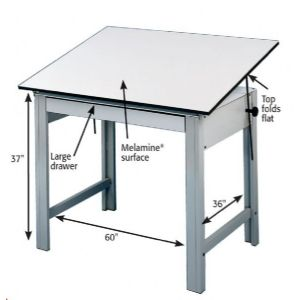 Alvin Drafting Table Designmaster Drafting Table Base Only Gray