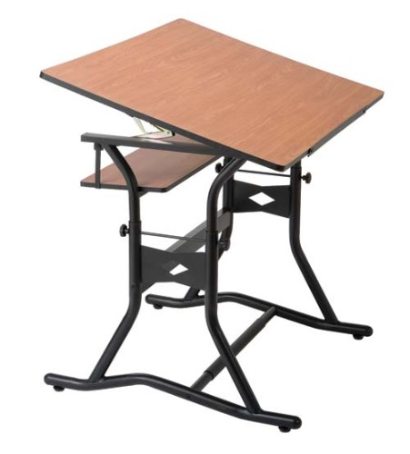 Alvin Craftmaster 3 Drafting Table Black Base With 30X42 Woodgrain Top
