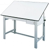 Alvin Drafting Table Designmaster Gray 37.5X60 Top And Drawers