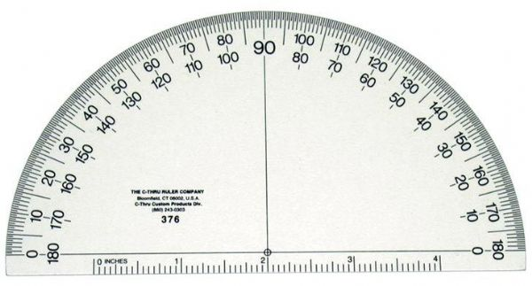 Protractor 6 Inch Solid