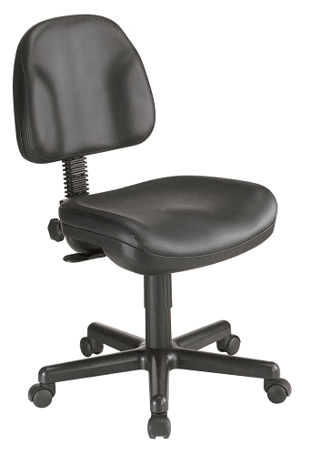Task Chair- Premo Black Leather Task Chair