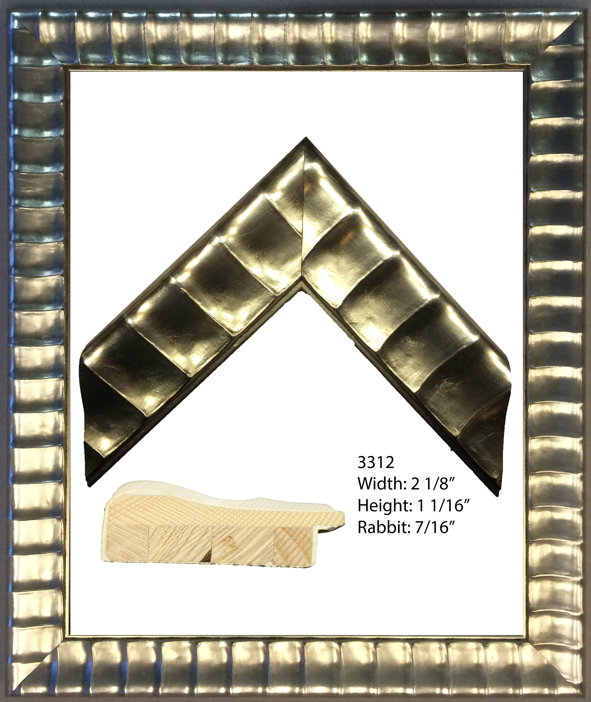 Gold Scallop Frame 27.75 x 21.75 x 1