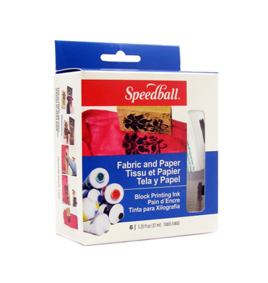 Speedball Fabric and Paper Block Printing Ink Set 6 colors