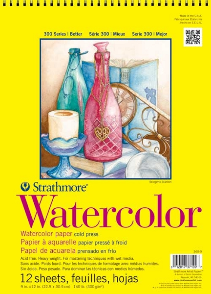 Stratmore 300 Series Watercolor Pads 9 X 12