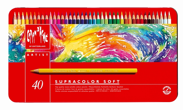 Caran D'Ae Supracolor Soft Water Soluble Color Pencils 40 Set