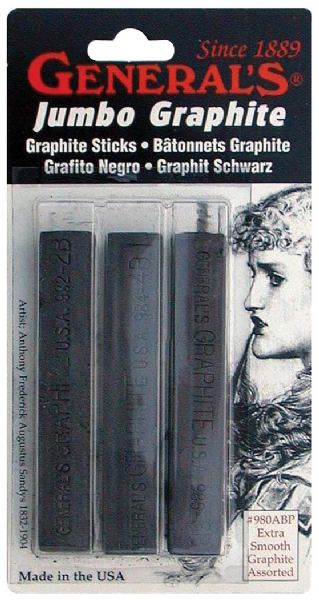 Jumbo Graphite Sticks Pack Of 3