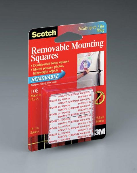 3M Removable Mounting Squares