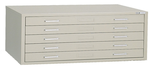 Mayline C Flat File 5 Drawer 43X32-3/4X2 White