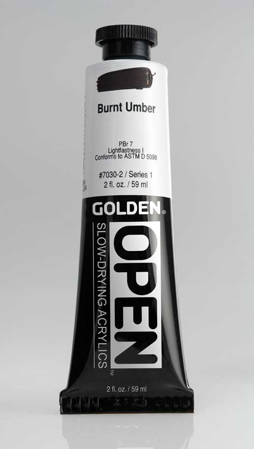 Golden Open Acrylics Burnt Umber 2 oz