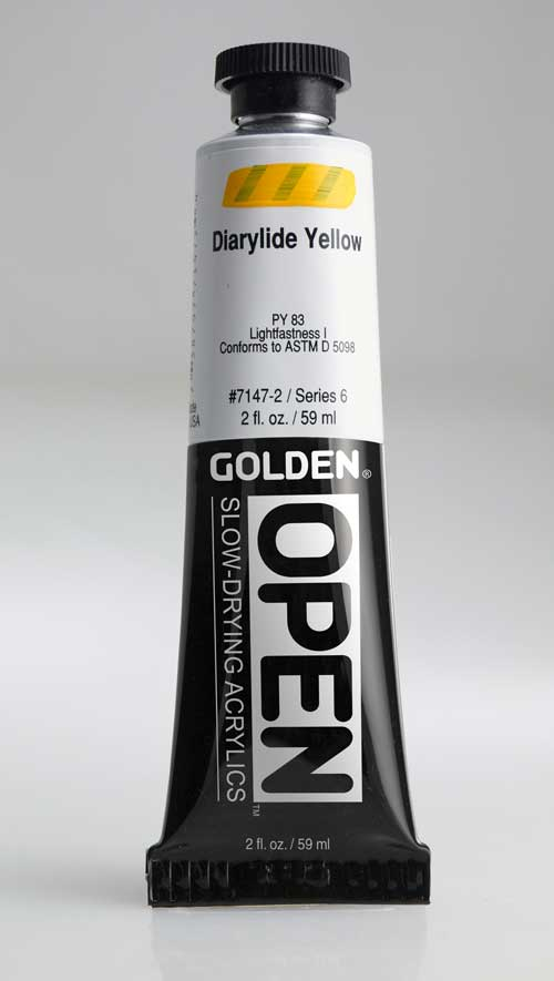 Golden Open Acrylics Diarylide Yellow 2 oz
