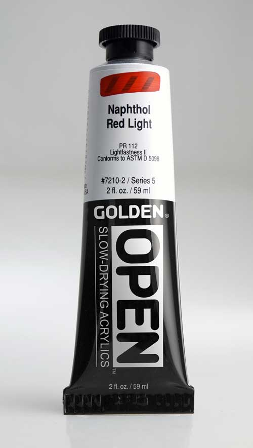 Golden Open Acrylics Naphthol Red Light 2 oz
