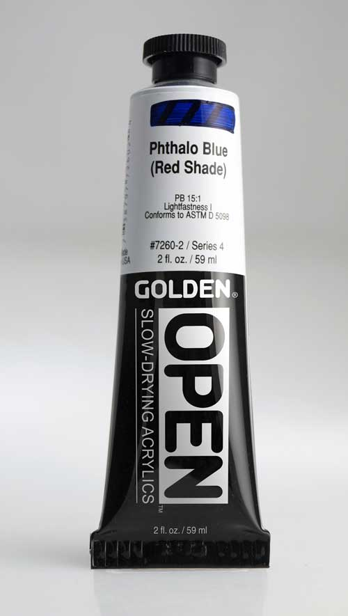 Golden Open Acrylics Phthalo Blue R.S. 2 oz