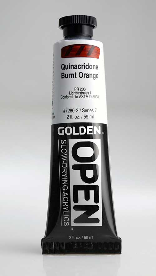 Golden Open Acrylics  Quin Burnt Orange 2 oz