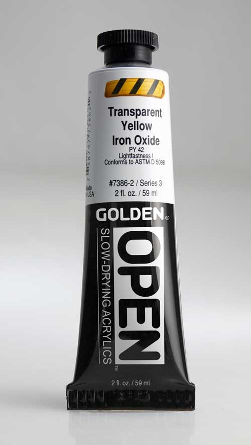 Golden Open Acrylics Trans p Yellow Iron Oxide 2 oz