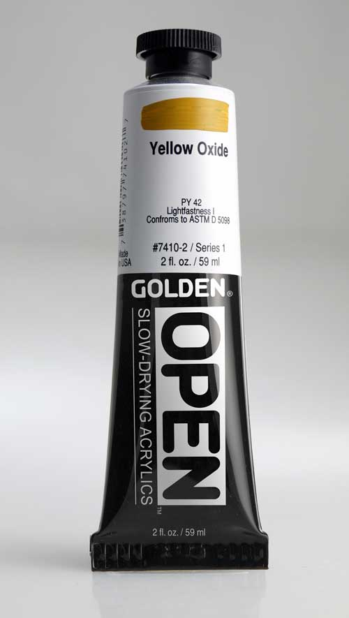 Golden Open Acrylics Yellow Oxide 2 oz