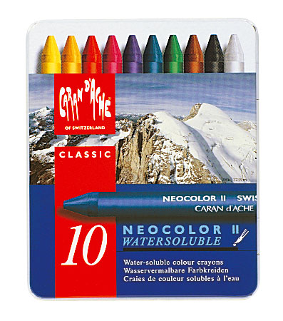 Neocolor II Water-Soluble Quality Artists' Crayons 10 Set
