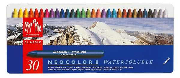 Neocolor II Water-Soluble Quality Artists' Crayons 30 Set