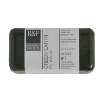 40ml R&F Encaustic Green Earth