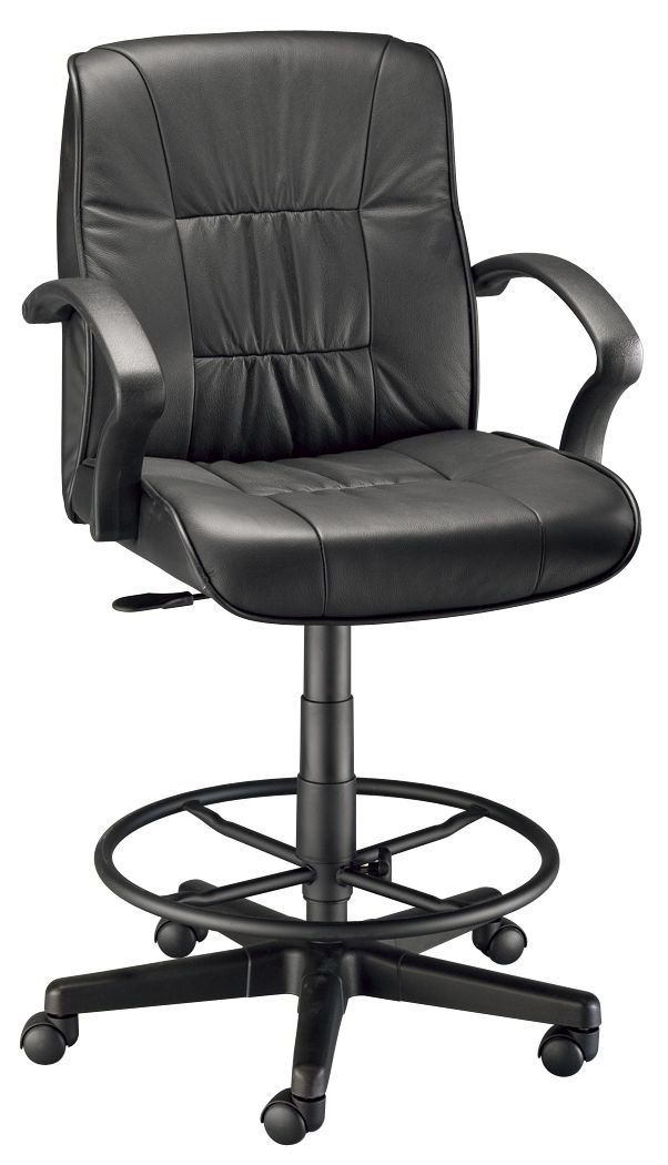 Art Director Executive Leather Chair Drafting Height