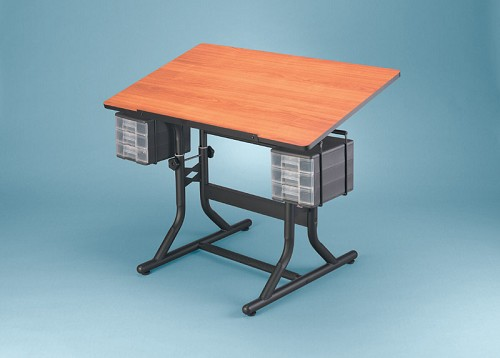 Alvin Craftmaster Drafting Table Black Base 24X40 Cherry Top