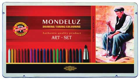 Mondeluz Art 32-Piece Tin Set