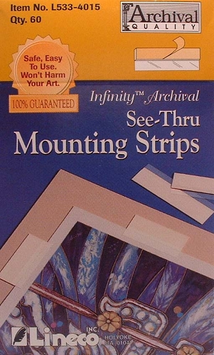 Lineco see thru mounting strips 60ct