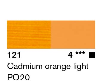 Lascaux Artist Acrylic  Cadmium Orange Light 45ml