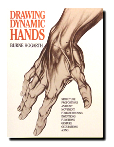Book-Drawing Dynamic Hands