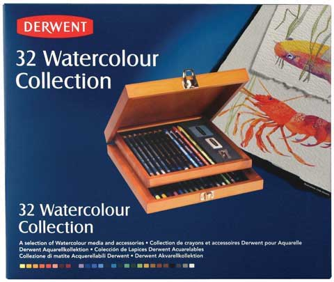 Derwent Watercolor Collection Wood Box Set