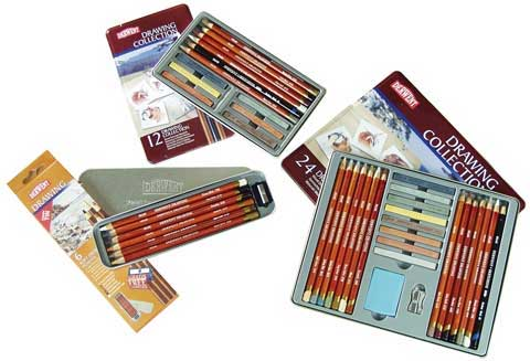 Derwent Drawing Pencil Tin set 24