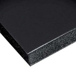 15 Pack 48 x 96 x 3/16 Black Gatorfoam Board