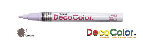 Marvy Deco Color Paint Marker Brown Broad Point
