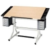 Alvin Drafting Table Craftmaster 2 White Base 28 X40 Maple Top