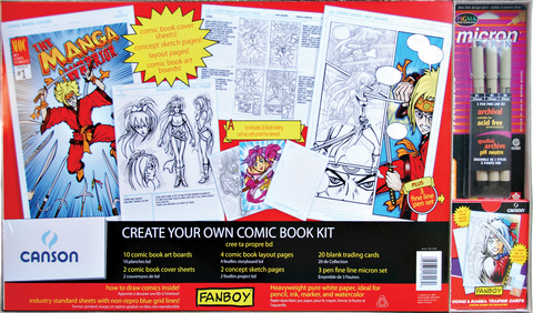 Fanboy Create Your Own Comic Book Gift Set