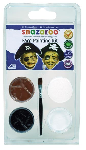 Snazaroo Face Painting Theme Mini Clam Pack Pirate