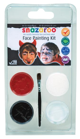 Snazaroo Face Painting Theme Mini Clam Pack Devil