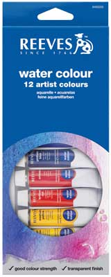Reeves Water Colour 12 x 12ml Tube Set