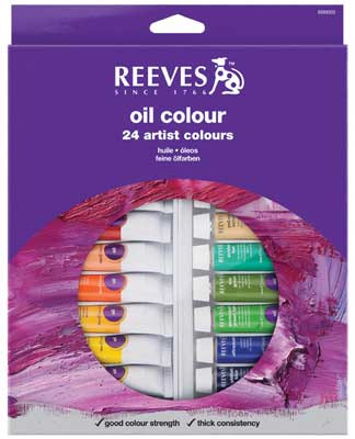 Reeves Oil Colour 24 x 12ml Tube Set