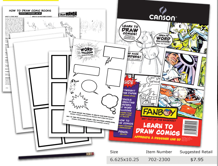 Canson Fanboy  Learn To Draw Comics Kit