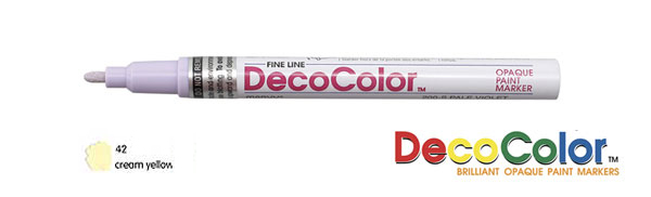 Marvy Deco Color Paint Marker Cream Yellow Broad Point